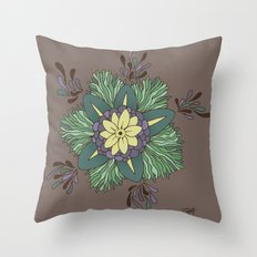 Sea Blossom Throw Pillow