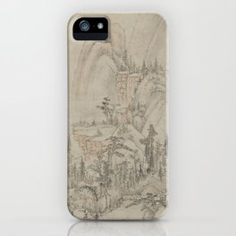 Ming Mo is the landscape in the Style of Huang Gongwang .1581 iPhone Case