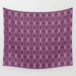 Hopscotch hex-Plum Wall Tapestry