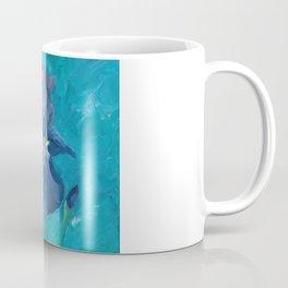 Purple Iris Artwork Coffee Mug