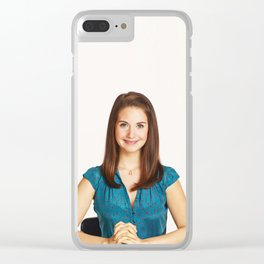 Alison Brie - Celebrity Art Clear iPhone Case