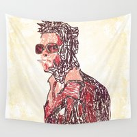 tyler spangler Wall Tapestries featuring Tyler by Fimbis