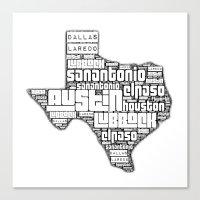texas Canvas Prints featuring Texas! by Artsy B