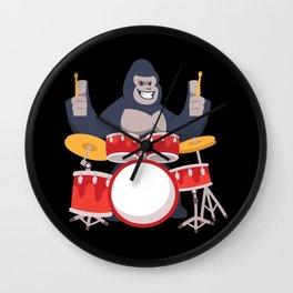 Gorilla Drummer Wall Clock