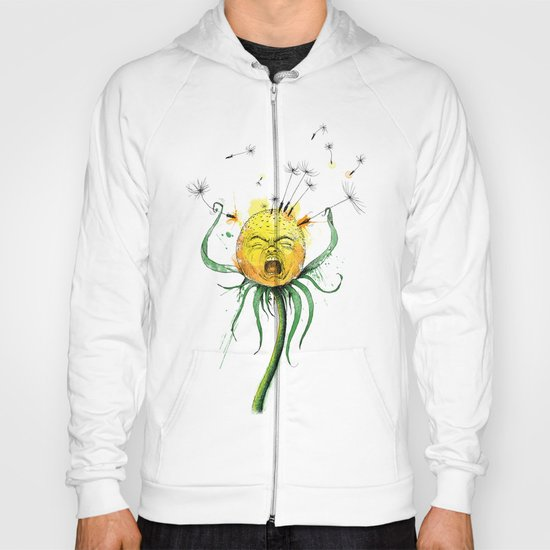 Angry Flower Whimsical Art Hoody