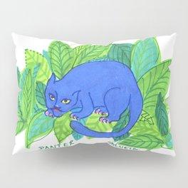 The Blue Panther Pillow Sham