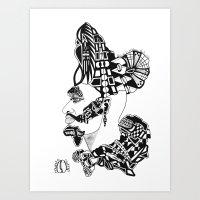 DARK AM I, YET LOVELY…; SOS 1:5 Art Print