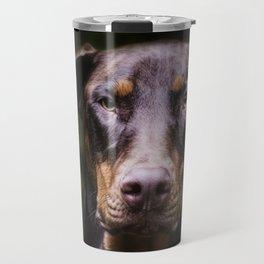 Red Dobie Travel Mug