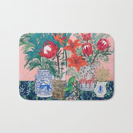 The Domesticated Jungle - Floral Still Life Bath Mat