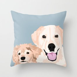 Carmen and Shelby Throw Pillow