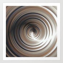 Cosmic Swirl: digital art with concentric circles Art Print