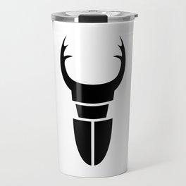 Bugs: abstract Stag Beetle Travel Mug