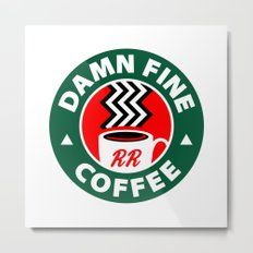 Damn Fine Coffee Twin Peaks Metal Print