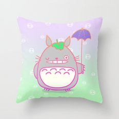 TotoroFan art  Throw Pillow