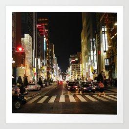 Ginza Crossing Art Print