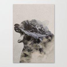 Bear In The Fog Canvas Print