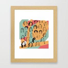 24 Female CEOs Framed Art Print