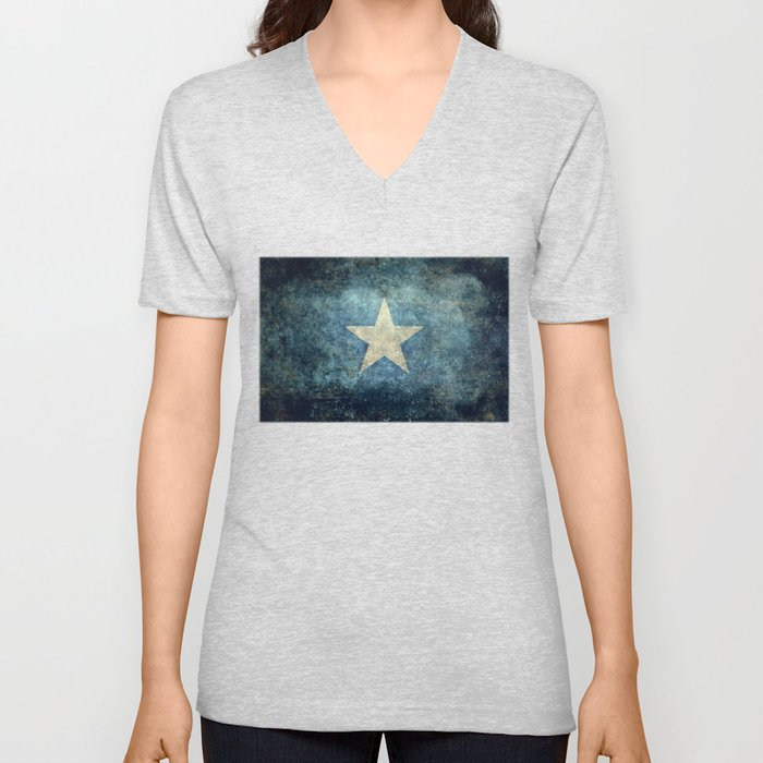 Somalian national flag - Vintage version Unisex V-Neck