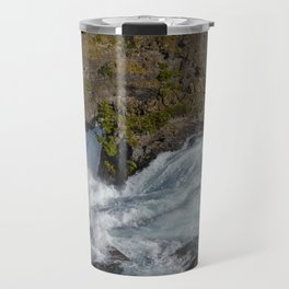 Big Waterfall in New Zealand Travel Mug