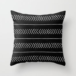 Tribal 02 - Black Throw Pillow