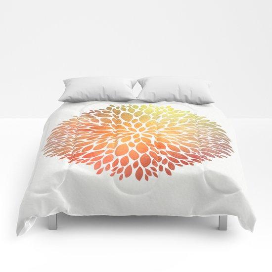 Petal Burst #7 Comforters