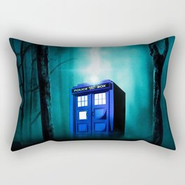 TARDIS BLUE EXPLODES Rectangular Pillow