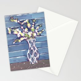 Blue Flowers in Vase Stationery Cards