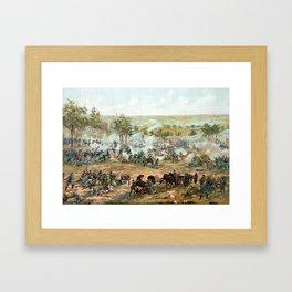 Battle Of Gettysburg -- American Civil War Framed Art Print