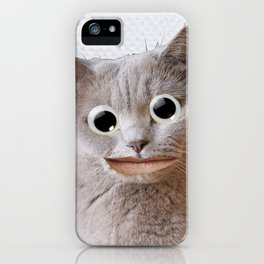 Cat With Googly Eyes iPhone Case