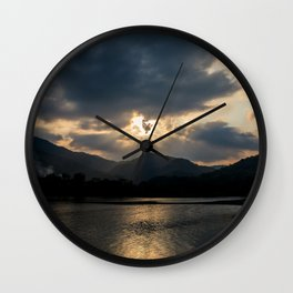 Shining Eye on the Sky Wall Clock