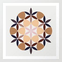 Flower of life - colored Art Print