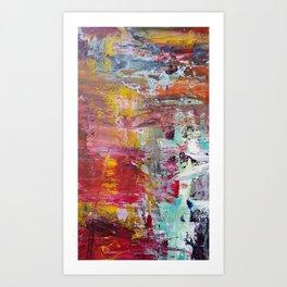 Sun Rise River Turn Art Print