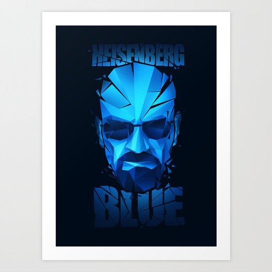 Heisenberg Blue Art Print