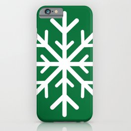 Snowflake (White & Olive) iPhone Case