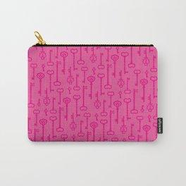 Pink Secret Keys Pattern Carry-All Pouch