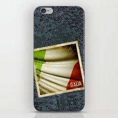 Grunge sticker of Italy flag iPhone & iPod Skin