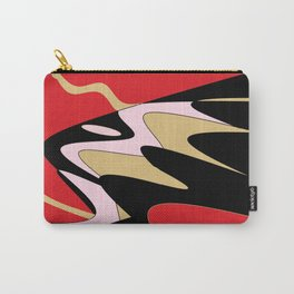 Snake Hill - Red and Black Carry-All Pouch