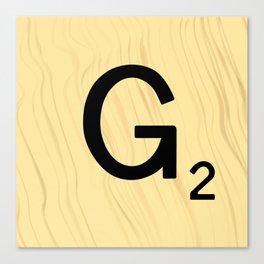 Scrabble G Decor, Scrabble Art, Large Scrabble Prints, Word Art, Accessories, Apparel, Home Decor Canvas Print