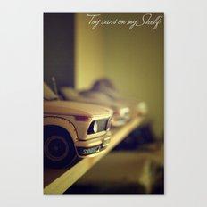Toy cars on my Shelf Canvas Print