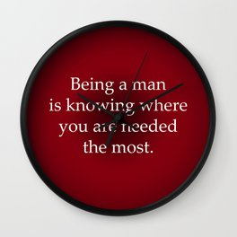 Being a Man Wall Clock
