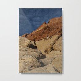Climbers at Red Rock Canyon Natural Conservation Area Las Vegas Metal Print