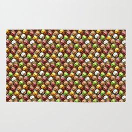 Metallic Beads Pattern Rug