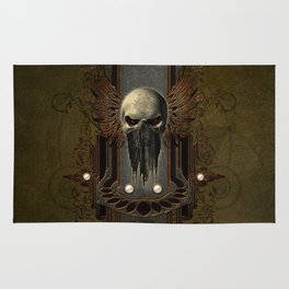 Amazing skull with wings Rug
