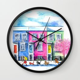 Springtime in Notting Hill Wall Clock