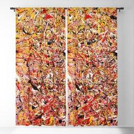 TENDER SUN - Jackosn Pollock style drip painting art design, dripping design, splash patern modern art Blackout Curtain
