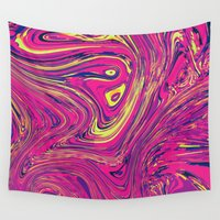 psychedelic Wall Tapestries featuring Psychedelic by Idle Amusement