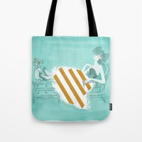 tiffany Tote Bags featuring Tiffany by Shaina Anderson