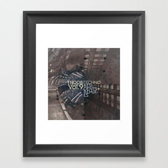 FNOOB Techno Vol. 9 album art Framed Art Print