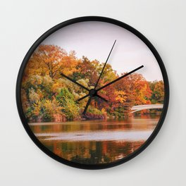 Autumn Colors Are the Best Colors - New York City Wall Clock