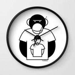 Monkey man tshirt Wall Clock